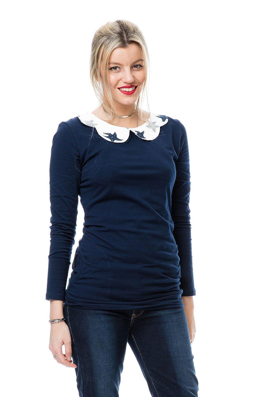 GoFuture Damen Umstandsshirt Stillshirt 3in1 Paros GF2344