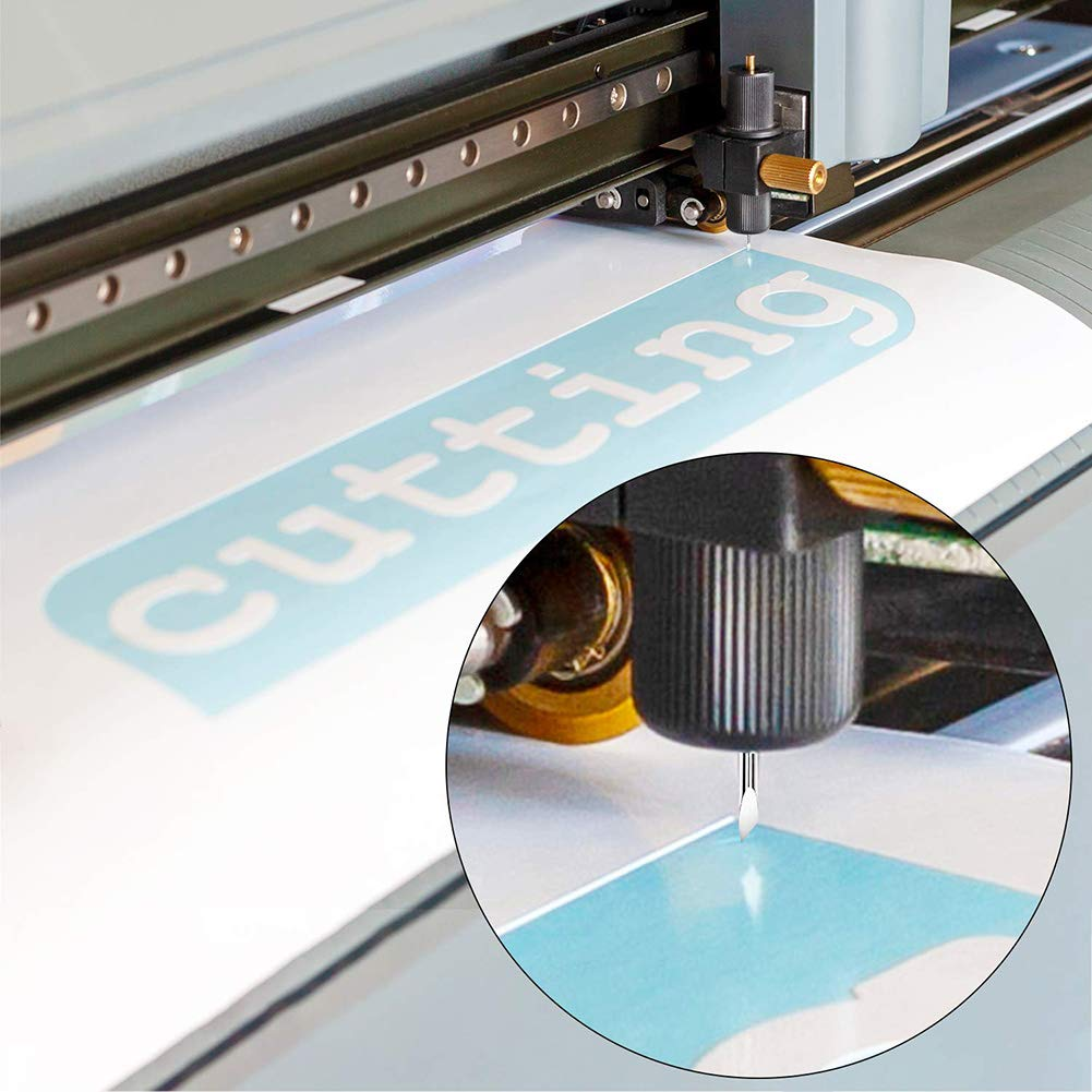 LM 30/45/60 Degree Vinyl Cutter Blades Roland Cutting Plotter with Holder Base by L&M (Image #6)