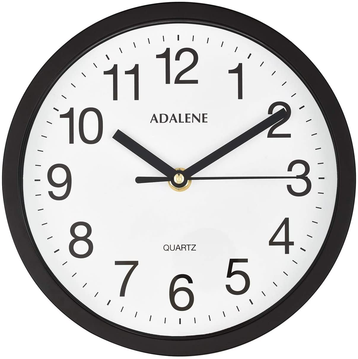 Adalene Small Wall Clocks Battery Operated 8 Inch for Living Room Décor, Modern Decorative Analog Wall Clock Non Ticking, Vintage Black Wall Clock Silent, Small Wall Clock for Bathroom Kitchen Bedroom
