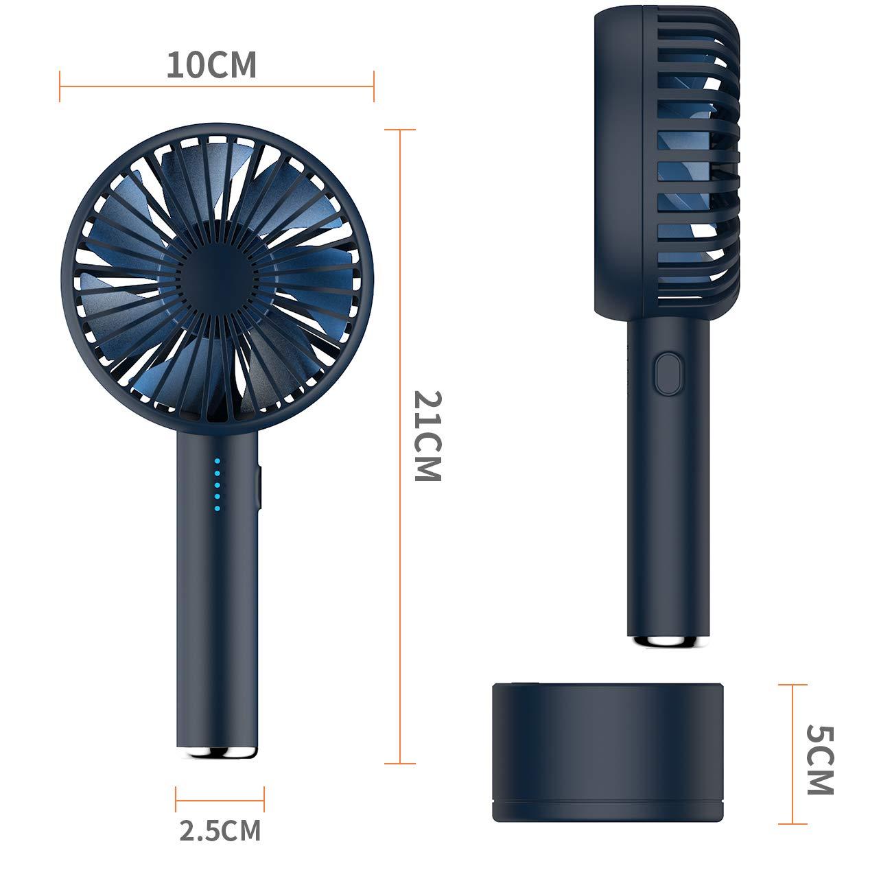 5 velocit/à del Vento Silenzioso EXTSUD Ventilatore Portatile Mini USB con Base Ricaricabile Piccolo PC Ventilatore per Ufficio Campeggio e casa Ventola per aromaterapia Girevole a 120/°