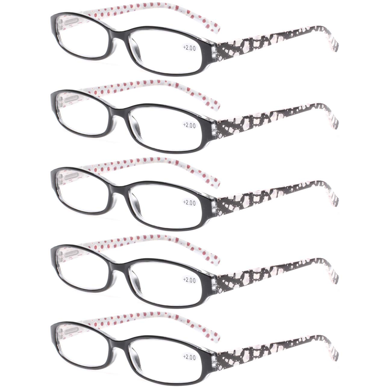 88e88d78fd8 Amazon.com  Reading Glasses Comb Pack of Multiple Classic Men and Women  Readers Spring Hinge Glasses (5 Pack Black