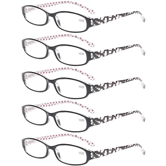3277688325e Reading Glasses Comb Pack of Multiple Classic Men and Women Readers Spring  Hinge Glasses (5