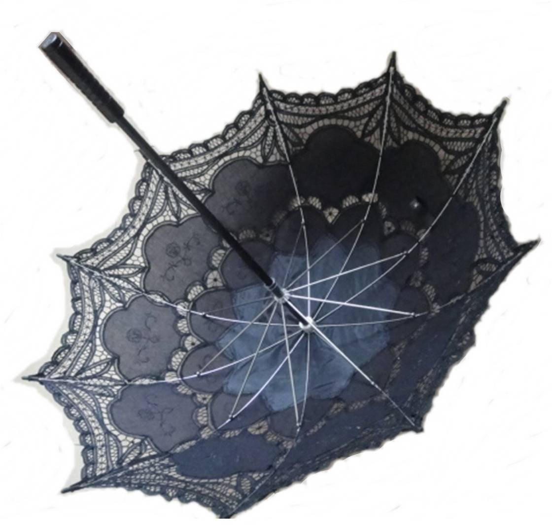 Battenburg Lace Parasol by lace-parasols