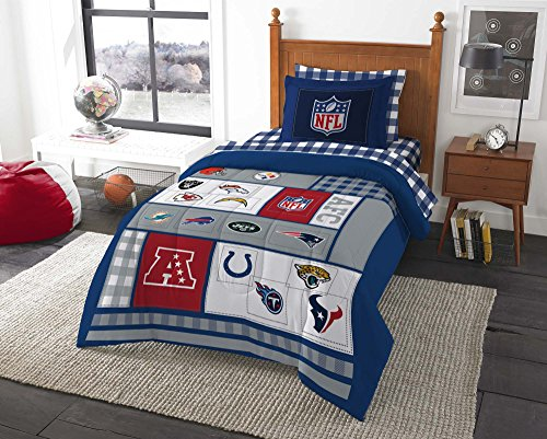 Football AFC vs NFC Comforter and Sheets (Football Bedding Set Bed)