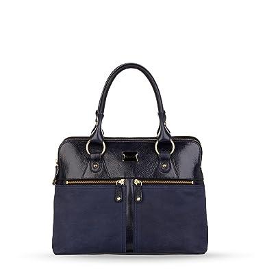 056aebe0d0 Womens Modalu Pippa Leather Grab Handbag Navy Blue  Amazon.co.uk  Shoes    Bags