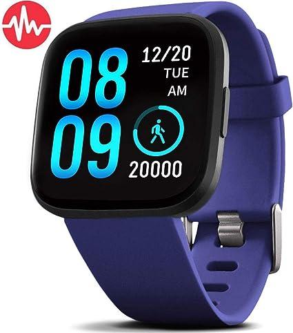 Amazon.com: FitVII - Reloj inteligente de salud y fitness ...