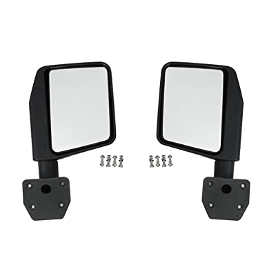 EAG Reflection Mirrors Side View Mirror Fit for 76-20 Wrangler CJ7 YJ TJ JK JL: Automotive