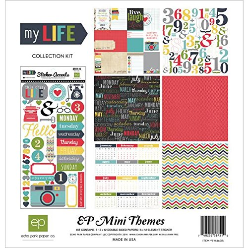 Echo Park Paper Company SW4605 My Life Theme Collection Kits, (Mini Scrapbooking Kit)