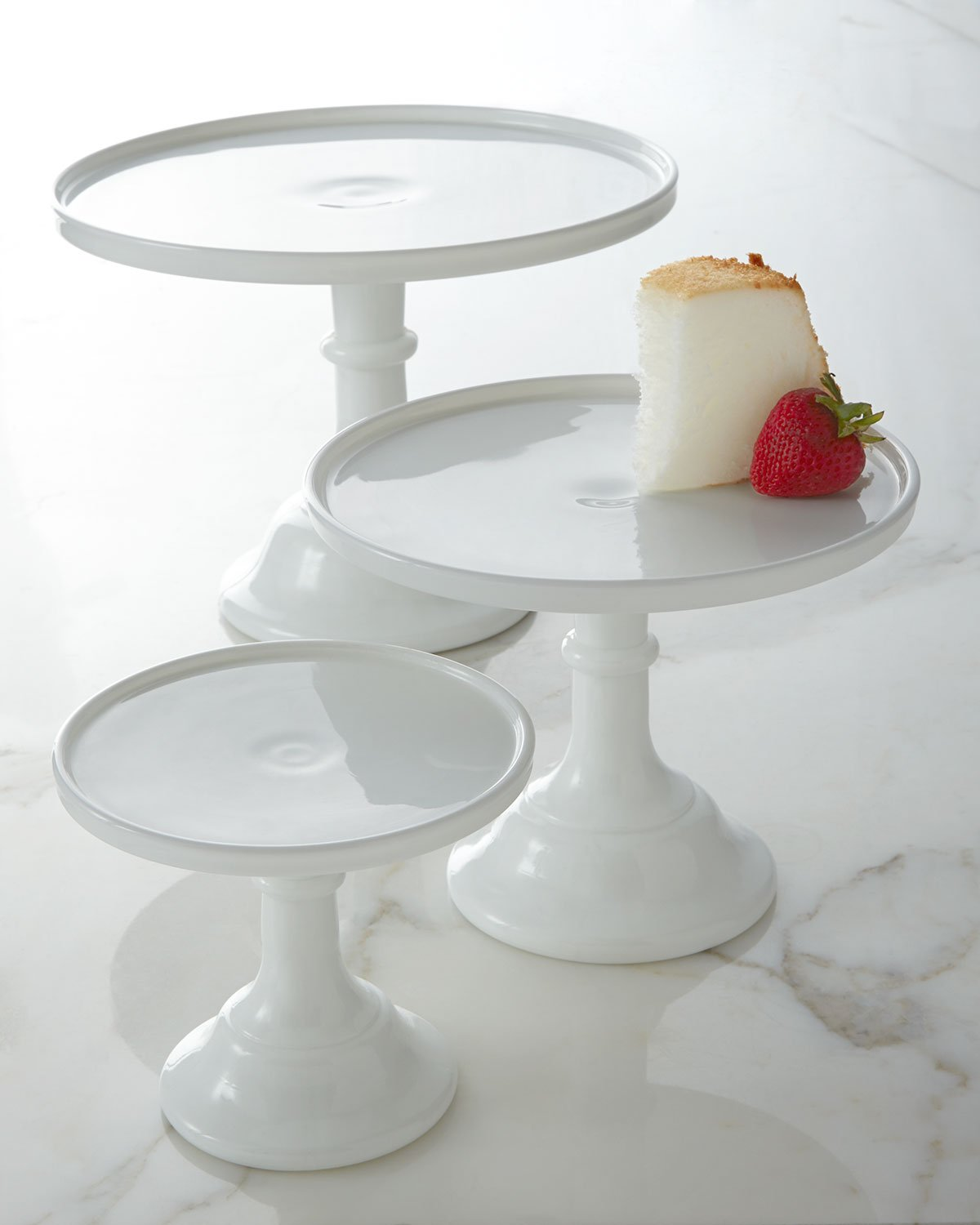 Amazon.com | Milk White 6  Glass Cake Stand - By Mosser Glass Cake Display Cake Stands & Amazon.com | Milk White 6