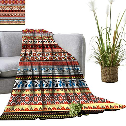 - YOYI Travel Blanket Stripe Pattern Wallpaper Easy to Carry Blanket 70