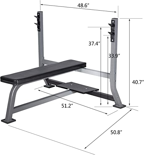 BuyHive Weight Bench Set Workout Bench Press Strength Training Squat Rack Home Gym