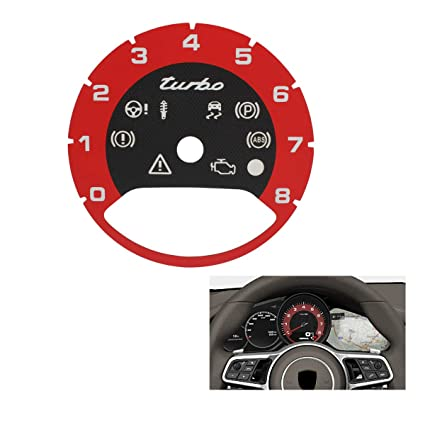 TOMALL Central Tachometer in Bordeaux Red Compatible for 2017 2018 Porsche Cayenne Panamera Turbo Replacement Interior
