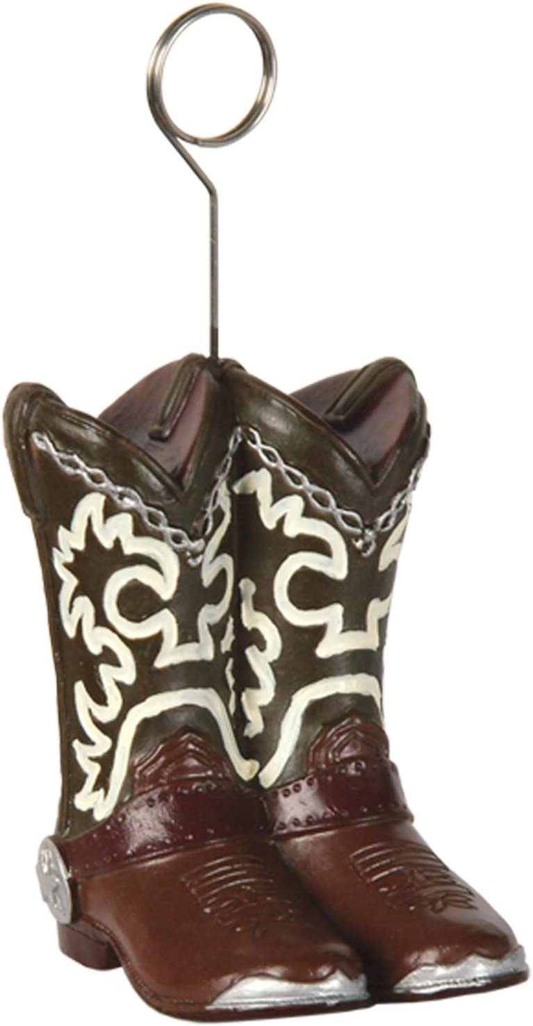 Cowboy Boots Photo/Balloon Holder Party Accessory (1 count)