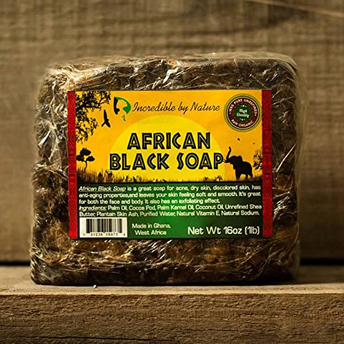 #1 Best Quality African Black Soap - Bulk 1lb Raw Organic Soap for Acne, Dry Skin, Rashes, Burns, Scar Removal, Face & Body Wash, Authentic Beauty Bar From Ghana West Africa - Incredible By Nature by Incredible by Nature (Image #2)