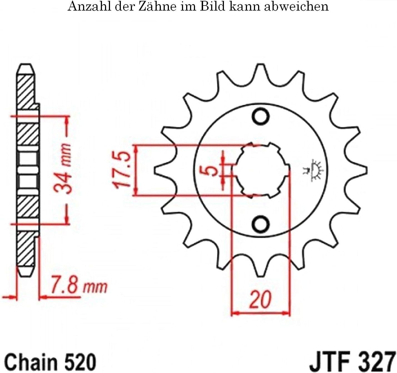 Ritzel 15 Z/ähne f/ür NSR 125 R Baujahr 1997-2003 von jtSprockets