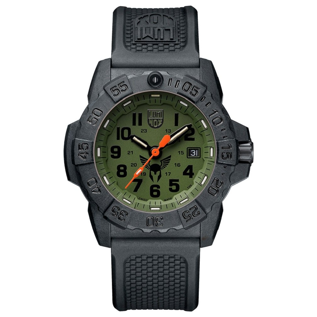 Luminox Men's 'SEA' Swiss Quartz Stainless Steel and Rubber Casual Watch, Color:Black (Model: 3501.BO.TV)