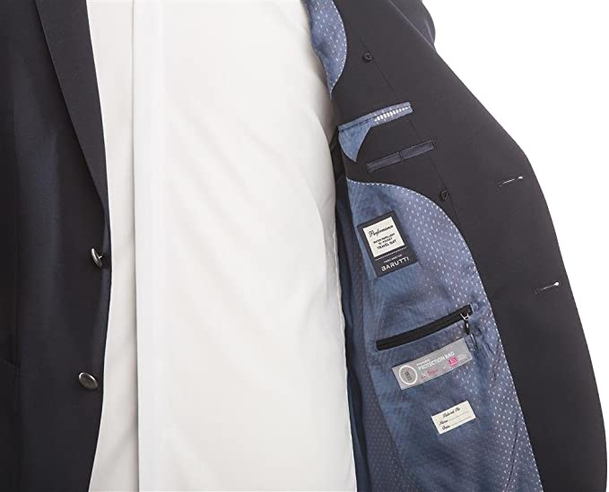 Barutti Größe 60 Blazer Dunkelblau Uni Tailored Fit