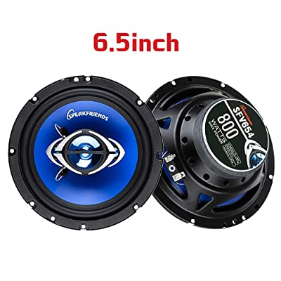 SPEAKFRIENDS 6.5 Inch Coaxial Car Speaker Replacement Speaker for Front Door Powerful Loud and Clear [1 Pair]: Home Audio & Theater