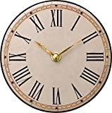 リズム時計工業 Zaccarella クオーツ掛け置き兼用時計 ザッカレラZ922 ZC922-003 置用金具付 イタリア製陶器枠 アナログ