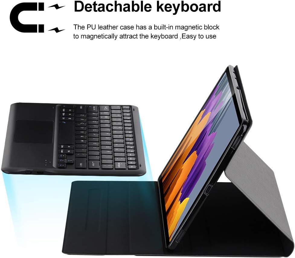 Wireless iPad Keyboard Foluu Galaxy Tab S7 Plus 12.4 2020 Keyboard Case Black Folio Smart Case Smart PU Cover Auto Sleep//Wake Magnetic for Samsung Galaxy Tab S7 Plus 12.4 2020 SM-T970//T975