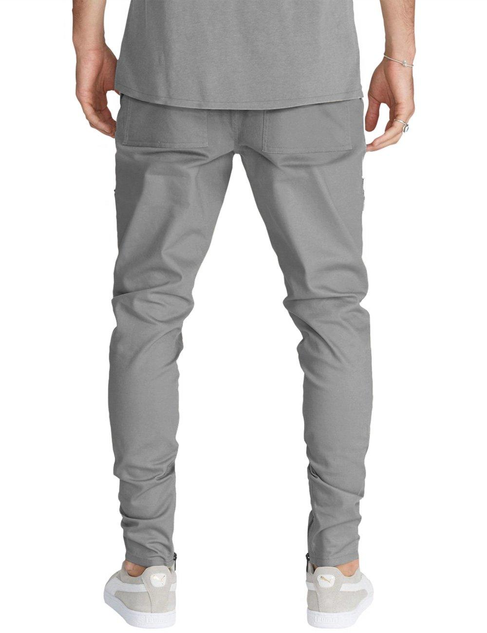 Pantaloni da Lavoro in Cotone 100/% Multi Stagione Vestibilit/à Regular Tasche Laterali Portametro Bande Reflex CHEMAGLIETTE Taglia: XXL Colore: Nero