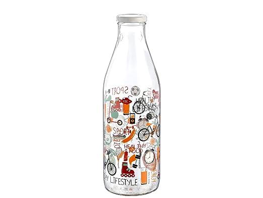 HOME Patchwork Nevera Botella con tapón, 1 litro, Cristal ...