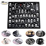 48 Pcs Presser Feet Set with Manual & Case artSew Sewing Machine Foot Kit for Brother, Babylock, Janome, Singer,Elna, Toyota, New Home, Simplicity, Necchi, Kenmore, White (LOW SHANK,SNAP-ON