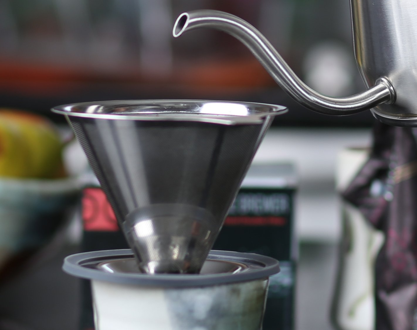 by The Elan Collective Makes 1-4 Cups Pour Over Coffee Essentials Brewing Set Pour Over Brewers Kettle /& Stainless Steel Pour Over Coffee Brewer Directions /& Tips Card Polishing Cloth