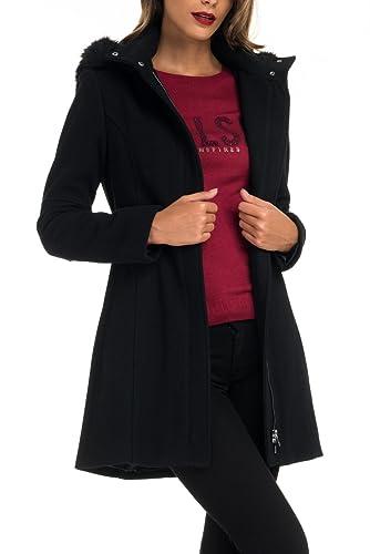 SALSA Chaqueta de paño con capucha