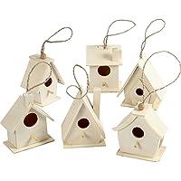 Casa para pájaros, 7 cm, álamo, 6 colores