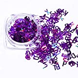 Nail Art Accessories Letter Nail Sequin Sparkle