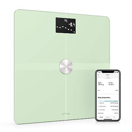 Withings/Nokia Body+ - Báscula wifi de composición corporal, Verde Pastel