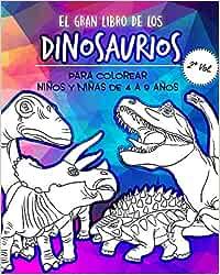 El Gran libro de los Dinosaurios para Colorear: Libro de