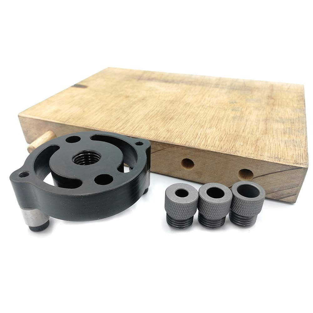 Shumo Self-Centering 6 8 10mm Dowel Jig Wood Panel Puncher Hole Locator Beech Central Holing Position Measuring Drilling Woodworking