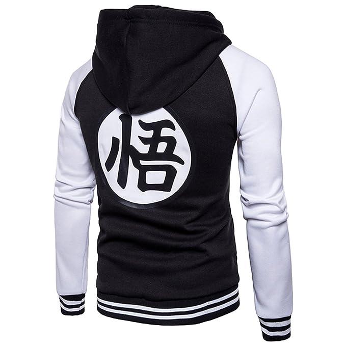 PIZZ ANNU Unisex Dragon Ball Sweatshirts Z Son Goku Zip Up Adult Hoodies at Amazon Mens Clothing store:
