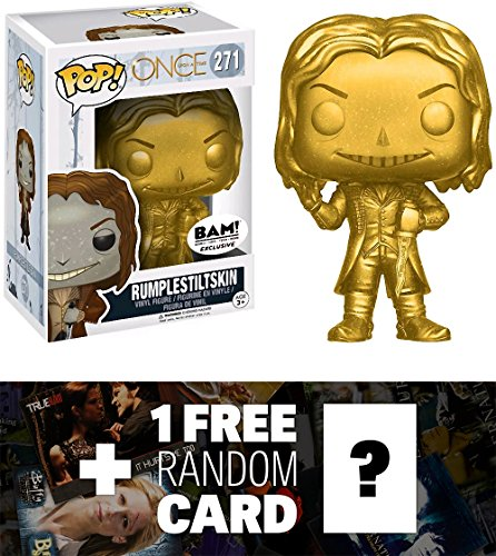 Rumplestiltskin (BAM! Exclusive): Funko POP! TV x Once Upon a Time Vinyl Figure + 1 FREE American TV Themed Trading Card Bundle (Evil Fairy Tale Characters)