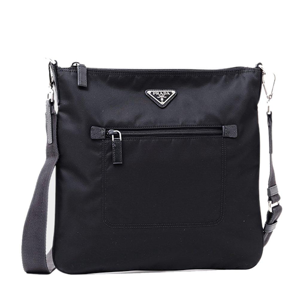 4a8df82c5ce4 Prada Nylon Messenger Bag Crossbody Black 1BH715  Amazon.co.uk  Clothing