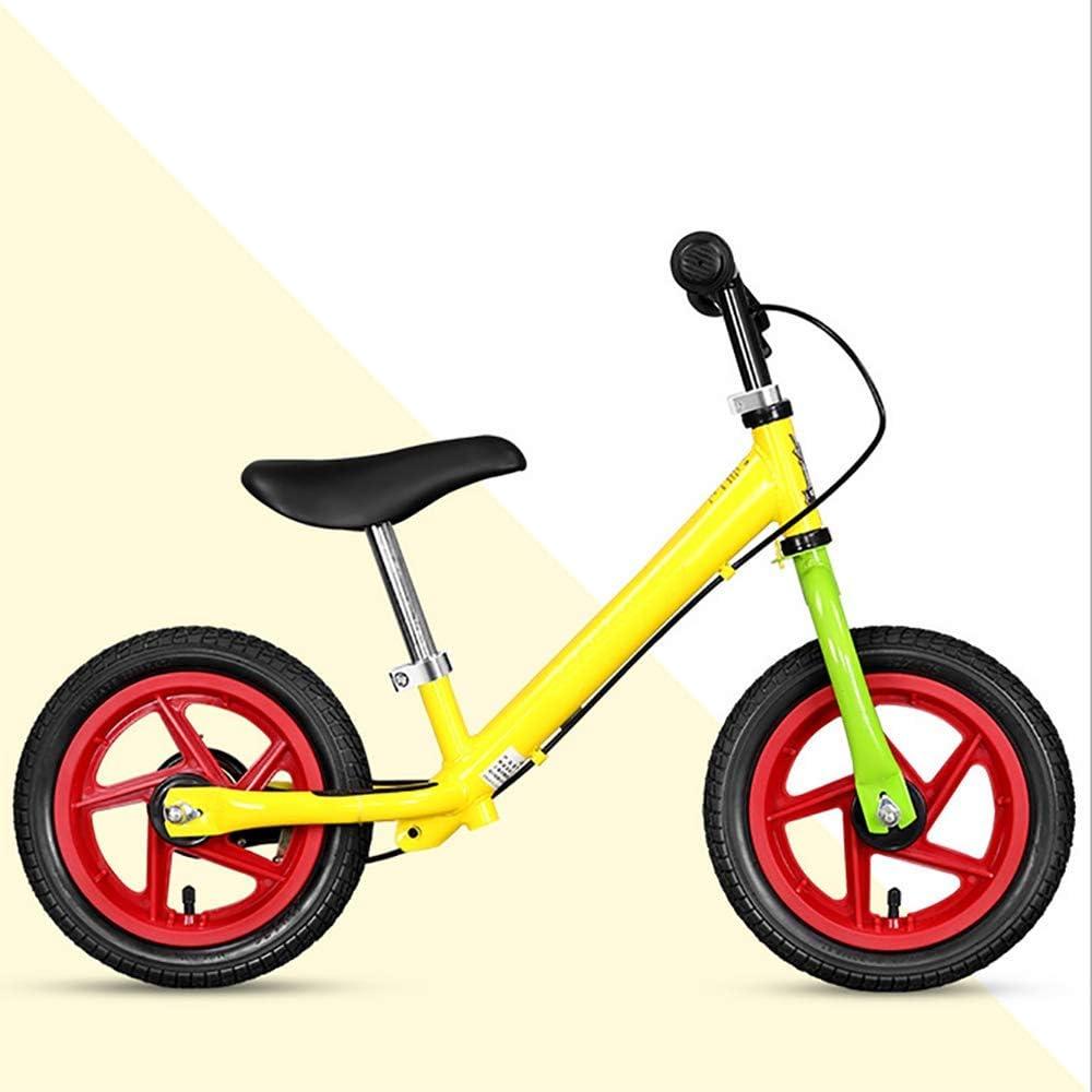 YUN GAME@ Running Ciclismo Bicicleta niños Bicicleta Equilibrio Bicicleta 12/Wide neumáticos | Cojín del Manillar del Freno de Mano,Blue: Amazon.es: Deportes y aire libre