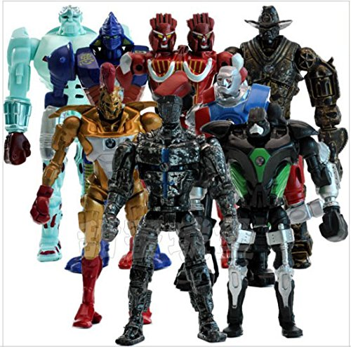 8pcs/set Real Steel PVC Action Figures Collectible Model Dolls Toys Kids Gifts KT477