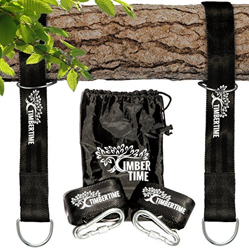 Tree Swing Hanging Kit for Outdoors - 2x 5ft Tree Swing Straps Hanging Kit - Super Strong For Hanging Chair, Hammock, Swing Chair & Porch Swing - We Plant a Tree for Every Sale - Safe for the Tree (Outside Hanger Swing)