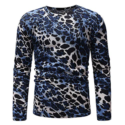 ANJUNIE Christmas Sweater Men Autumn Winter Pullover Knitted Top Comfy Outwear(5-Navy,L)