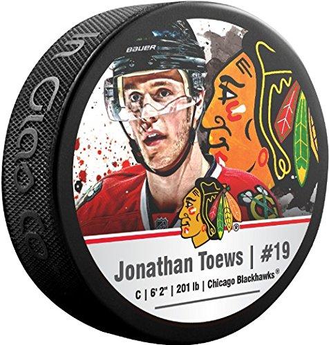 Chicago Blackhawks Jonathan Toews Puck (Jonathan Toews Chicago Blackhawks Sher-Wood NHL Stars Photo Hockey Puck)