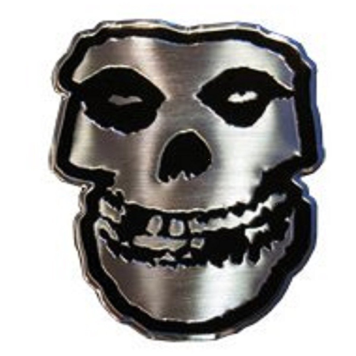The Misfits Skull in Silver STICKER, Original Licensed Symbol on Embossed METAL STICKER - Small 1.125' Inches Original Licensed Symbol on Embossed METAL STICKER - Small 1.125 Inches Officially Licensed & Trademarked Products S-7769-M