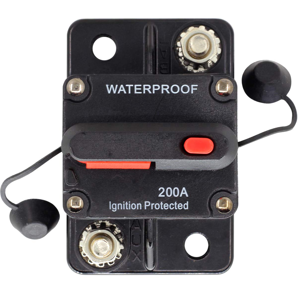 ZOOKOTO 12V 42VDC 200 Amp Circuit Breaker with Manual Reset for Car Truck Rv ATV Marine Boat Vehicles//Electronic Systems
