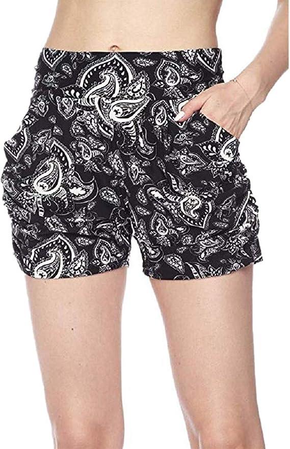 Amazon.com: Pantalones cortos para mujer con bolsillo Boho ...