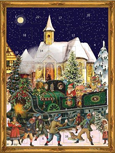 Victorian Christmas Train German Advent Calendar (approx 10.5 x 14-inches) (765-B)