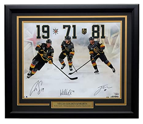 a17297452 Image Unavailable. Image not available for. Color  Jonathan Marchessault William  Karlsson Reilly Smith Triple Signed Framed Vegas Golden Knights ...