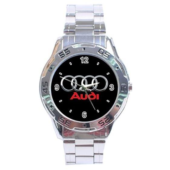 Amazoncom Audi Black Logo Sport Metal Watch Special Edition Clothing - Audi watch