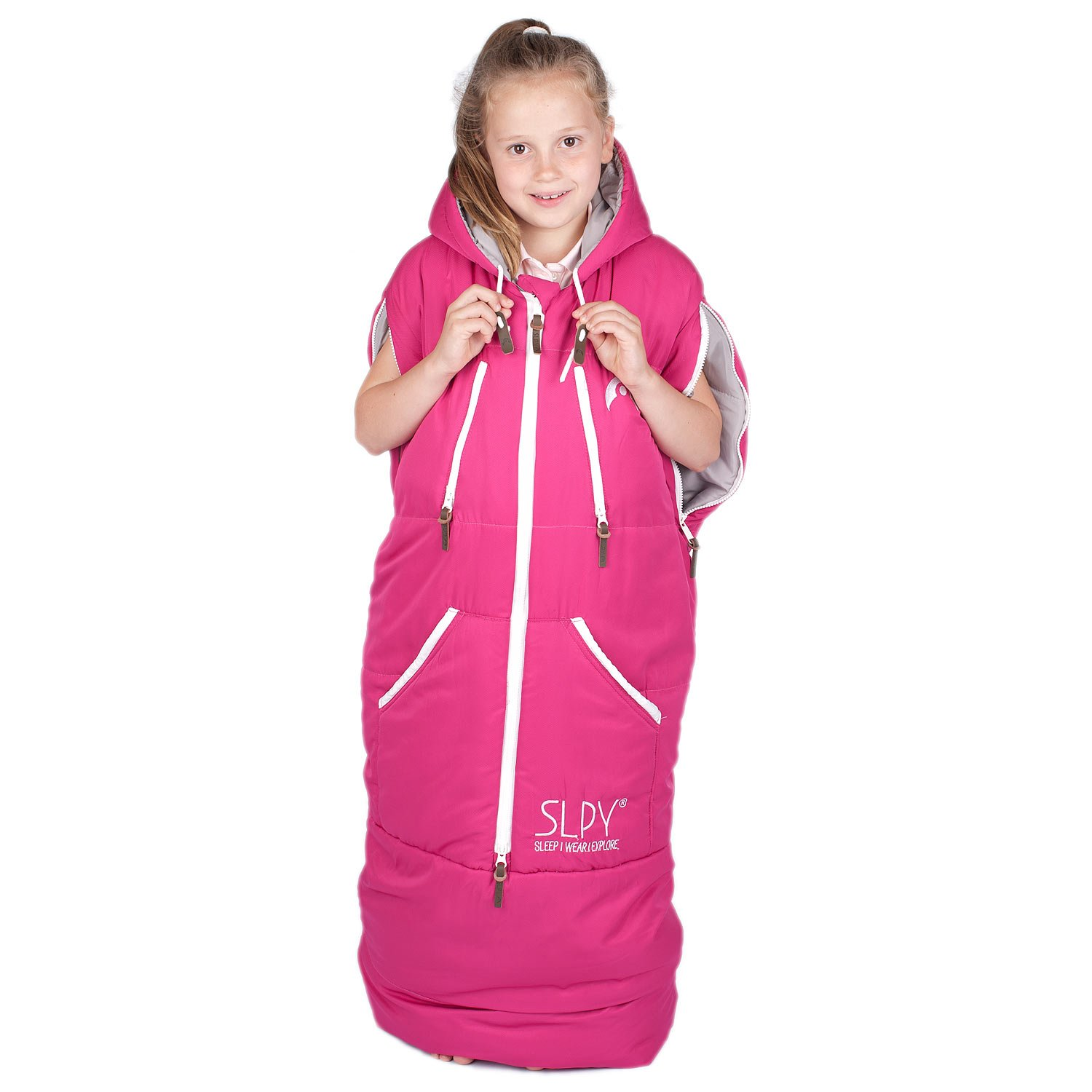 SLPY The Wearable Sleeping Bag - Kids Sleepy One Size Pink by SLPY