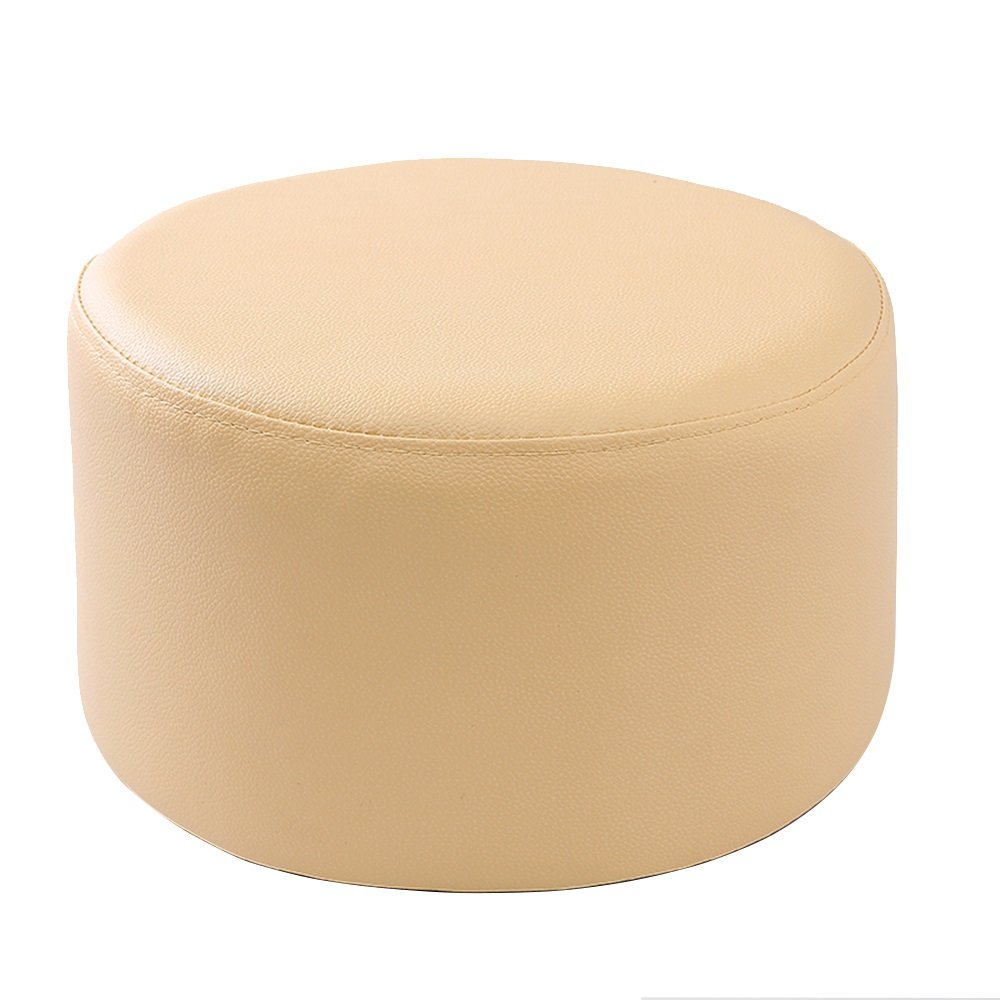 Xin-stool Leather sofa stool/Fashion Stools/Sofa Stool/Coffee Table Stool/Multifunctional footstool/European shoe bench/low stool/Bed stool Fashion dressing stool/2715cm (Color : Beige)